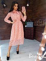 Женское платье из сетки, миди