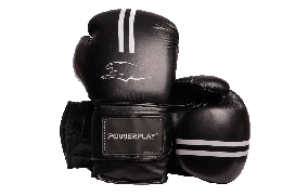 Боксерські рукавиці PowerPlay 3016 14 унцій Чорно-Білі PP301614ozBlack White, КОД: 1138487