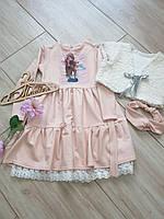 Нарядный комплект: Платье и шубка для девочки  Размеры 110- 134 Супер новинка!