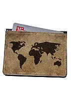 Кошелек-картхолдер DevayS Maker  DM 15 Карта мира Коричневый 30-0115-448, КОД: 1239125