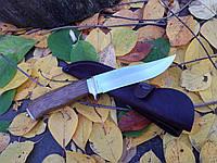 Нож охотничий универсальный  , рукоять  из дерева венге+кожаный чехол