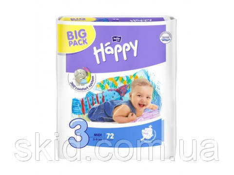 Подгузники Bella Happy Midi №3 (5-9 кг) 72 шт