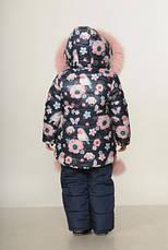 Детский зимний комбинезон для девочки Снегирь | размеры  92-110, фото 3