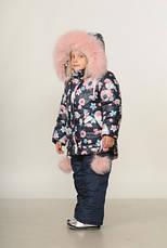 Детский зимний комбинезон для девочки Снегирь | размеры  92-110, фото 2