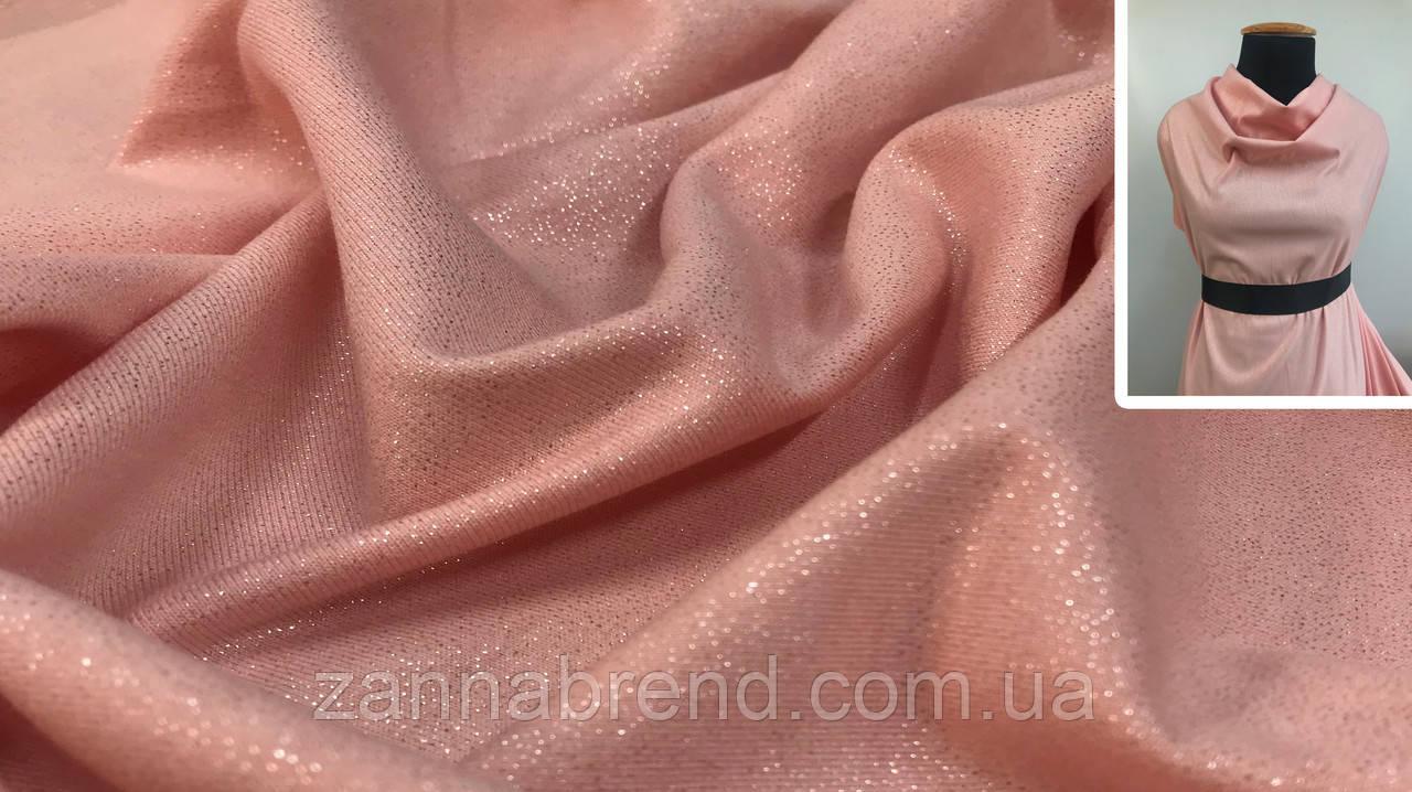 Ткань футер двунитка с напылением пудра
