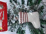 Новогодние украшения на елку Набор Снеговик 3 штуки, фото 2