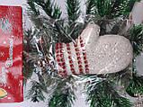 Новогодние украшения на елку Набор Снеговик 3 штуки, фото 4