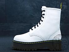 Женские ботинки Dr.Martens Jadon Platform Boots White Polished Smooth 15265100, фото 2