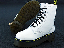Женские ботинки Dr.Martens Jadon Platform Boots White Polished Smooth 15265100, фото 3