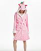 Халат женский с единорогом кигуруми Розовый M, фото 2