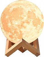 Настольный светильник 3D Moon Луна 15 см 31-SAN138, КОД: 1178548