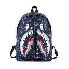 Рюкзак мужской женский школьный портфель BAPE 657/25 синий