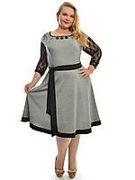 Платье расклешенное большого размера, фото 1