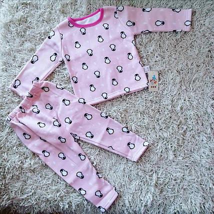 Пижама детская для девочку утепленная на флисе на девочку  осень/зима 1-6 лет, фото 2