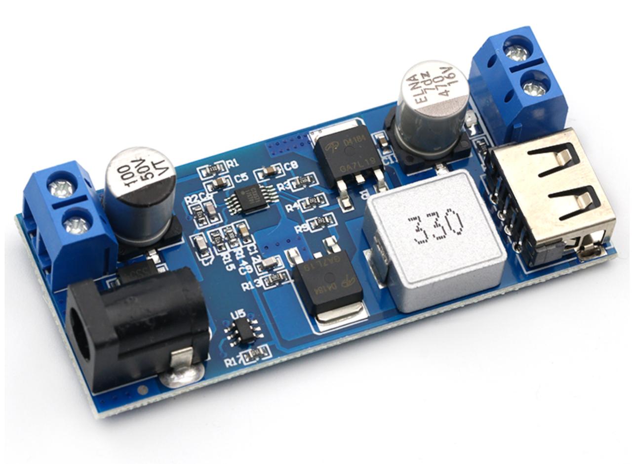 Понижуючий модуль перетворювач USB DC-DC 9-36В на 5.2 В 6А 25Вт