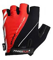 Велоперчатки PowerPlay S Черно-красные 5024CSRed, КОД: 977453