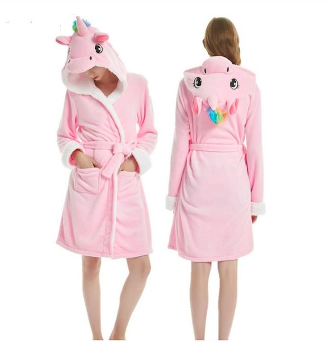 Халат женский с единорогом кигуруми Розовый L