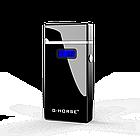 Электроимпульсная USB зажигалка G-HORSE black 099_1, фото 2