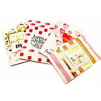"Открытка музыкальная с конвертом ""Happy Valentines Day"" 20х14см 8 видов (32948)"