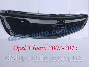 Зимняя накладка на решетку глянец на Opel Vivaro 2001-2007 гг.
