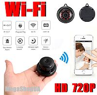 Беспроводная мини WiFi Вай Фай IP камера видеонаблюдения для дома, квартиры, видеоняня. Камера відеонагляду R5, фото 1