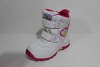 Зимние детские ботинки на девочку, полусапожки на меху, зимняя детская обувь, термо обувь, дутики