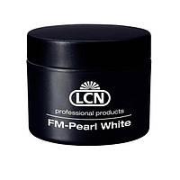 Гель белого цвета с перламутром для френча LCN FM Pearl White