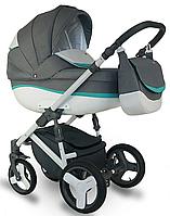 Дитяча коляска BEXA Ideal  New IN 11 Сірий з бірюзовим 3072018012, КОД: 125699