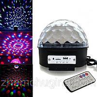 МУЗЫКАЛЬНЫЙ ДИСКО ШАР LED CRYSTAL MAGIC BALL LIGHT MP3 SD CARD, фото 1