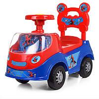 Машинка толокар детская каталка Bambi 238-SP Человек Паук Синий с красным 008802, КОД: 1049972