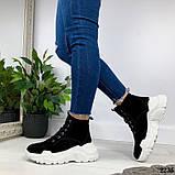 Женские зимние ботинки из натуральной замши, фото 4