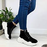 Женские зимние ботинки из натуральной замши, фото 3