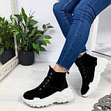 Женские зимние ботинки из натуральной замши, фото 2