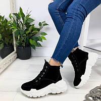 Женские зимние ботинки из натуральной замши, фото 1