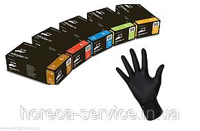 Перчатки нитриловые неопудренные Mercator Meducal Nitrylex BLACK черные,размер XS 50 пар, фото 2