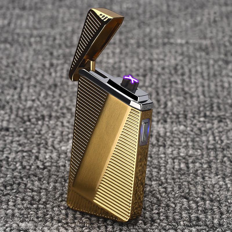 Электроимпульсная USB зажигалка abstract gold 074_4