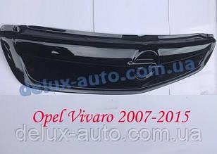 Зимняя матовая накладка на решетку на Opel Vivaro 2007-2015 гг.