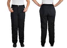 Жіночі спортивні штани з плащової тканини на флісі розміри 52-56