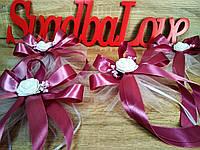 Украшение свадебных машин Rose. Цвет пудровый (цена за 1 шт)