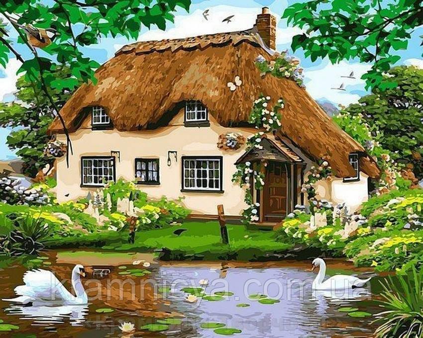 Картина по номерам Brushme 40х50 Сельский домик (GX8291)