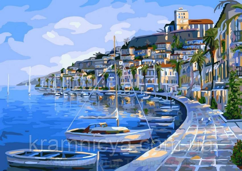 Картина по номерам Brushme 40х50 Лодочная гавань (G293)