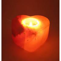 Соляной подсвечник  Гималайская соль Сердце 25672