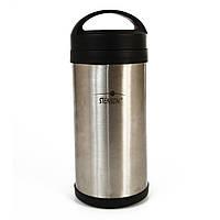 Термос для еды металлический Stenson MT-0074 2 л Серебристый с черным 004756, КОД: 950605
