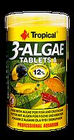 Самоклеющиеся таблетки для рыб Tropical 3-Algae Tablets A, 50ml/36g  (срок до 06.2017)