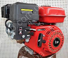Двигатель бензиновый 168F 7 л.с вал 19 мм шпонка+шкив 3-х руч. проф А
