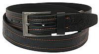 Кожаный ремень Skipper 110-130 x 3.8 см Черный 1014-38, КОД: 390087