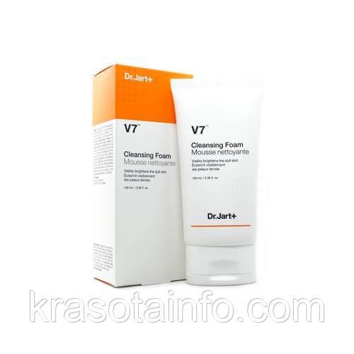 Dr. Jart+ V7 Cleansing Foam Mousse Nettoyante, Пенка для умывания лица с двойным витаминным комплексом, 100 мл