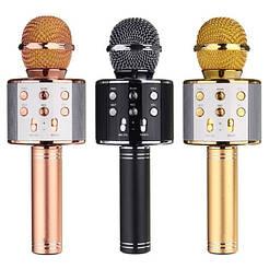 Беспроводной караоке микрофон Wster WS 858. В чехле