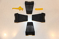 Пластиковая защита зажимов шиномонтажного стола и протектор для монтажной головки (набор 6 ед.)