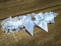 Свадебная подвязка для невесты Elle. Цвет белый.